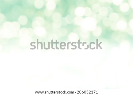 Abstract vintage green blur bokeh background. - stock photo