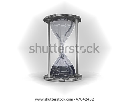 Abstract vintage hourglass isolated on white background