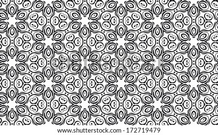 abstract vintage ornament seamless pattern - stock photo