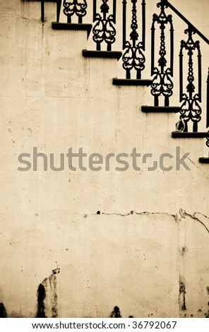 Abstract Vintage Stairs - stock photo