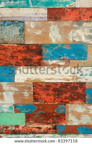 abstract vintage wood pattern background - stock photo