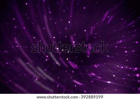 abstract violet background. fractal explosion star with gloss and lines