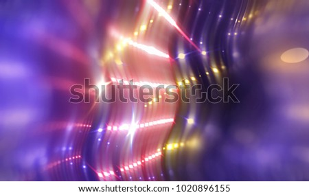 abstract violet background with waves and stars. illustration digital.