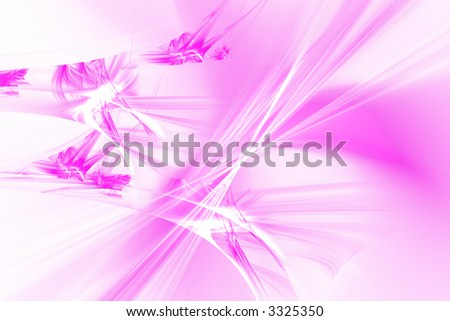 Abstract violet crystal floral background pattern over white - stock photo