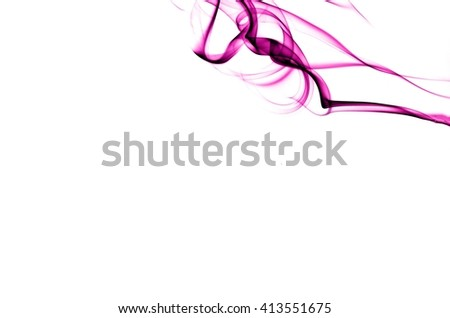 Abstract Violet smoke on white background, Violet background,Violet ink background,purple smoke,beautiful color smoke - stock photo