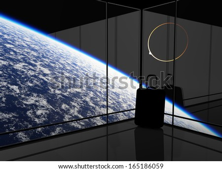 Abstract vision of space travel. This graphic is entirely computer-generated and, although photorealistic, it does not feature any elements of other images.