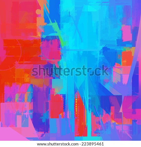 Abstract vivid art background - stock photo