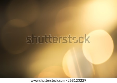 Abstract vivid yellow and white bokeh background - stock photo
