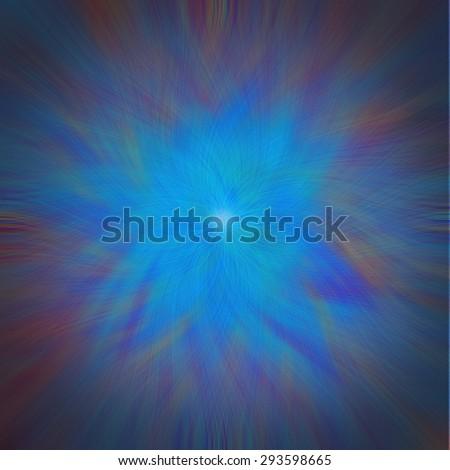 Abstract vortex concept illustation, predominantly blue - stock photo