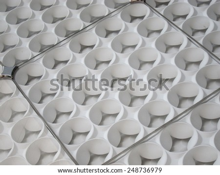 Abstract wall paneling repeated pattern - stock photo