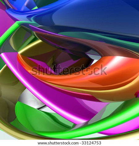 Abstract wallpaper background illustration of smooth glossy colors
