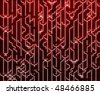 Abstract wallpaper illustration of electronic circuitry patterns - stock photo