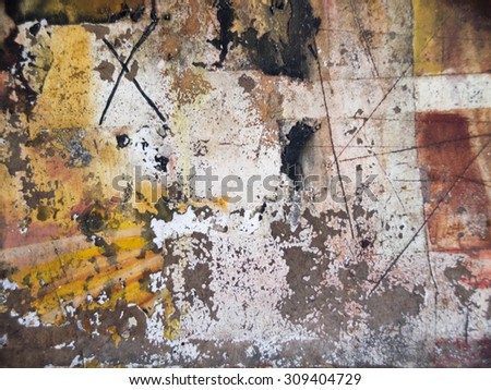 abstract wallpaper of oil painting with brush strokes in cool colors for easy use in designs and layouts