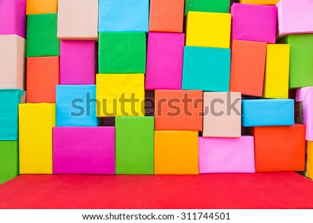 Abstract wallpaper rainbow Colorful Paper background - stock photo