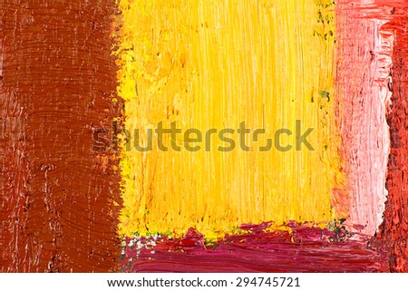 abstract wallpaper, texture, background of close-up fragment of oil painting on canvas with brush strokes.  - stock photo