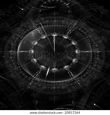 abstract watch, show 2 minutes to midnight - stock photo