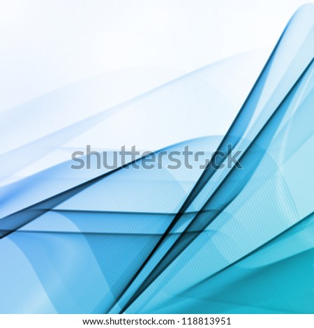 Abstract water background, wave illustration - stock photo