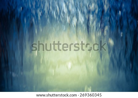 Abstract water background with vignette - stock photo