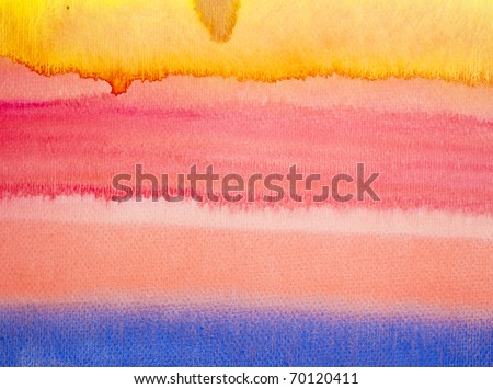 Abstract Water Color - stock photo