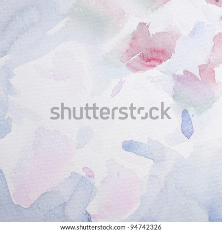 Abstract Water Color for background - stock photo