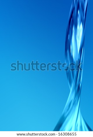 Abstract water flow - stock photo