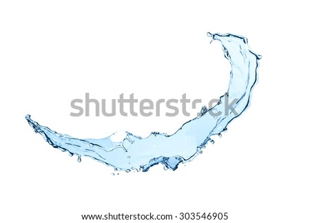 Abstract water splash isolated on white background - stock photo