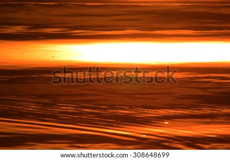 Abstract water surface at sunset