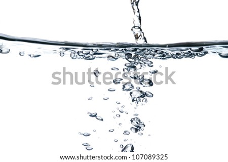 abstract water with bubbles - stock photo