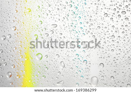 Abstract water with colorful background - stock photo