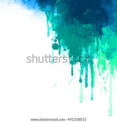 Abstract watercolor background. Abstract colorful digital art painting