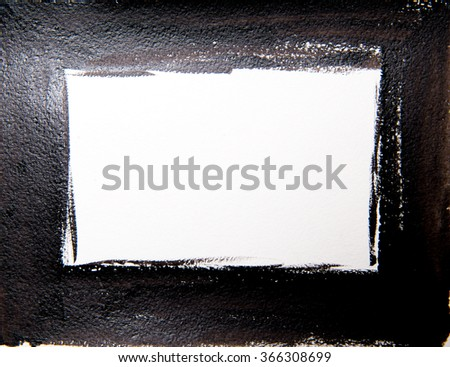 Abstract watercolor background. Black frame  - stock photo