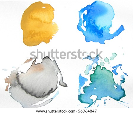 abstract watercolor background design - stock photo