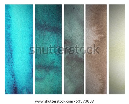 abstract watercolor background design banner - stock photo