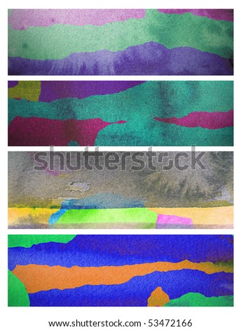 abstract watercolor background design banners