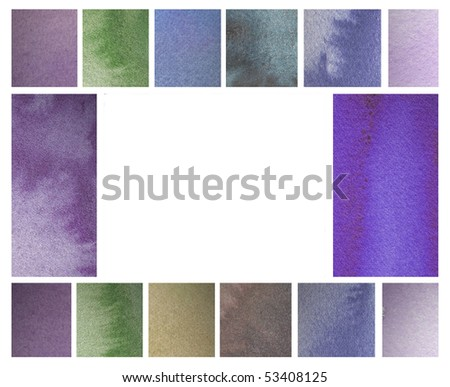 abstract watercolor background design border - stock photo