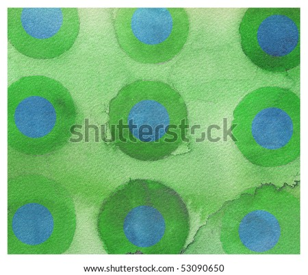 abstract watercolor background design circles