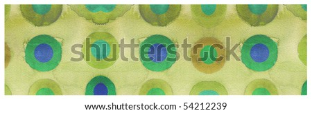 abstract watercolor background design circles - stock photo