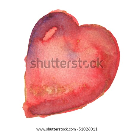 abstract watercolor background design heart - stock photo