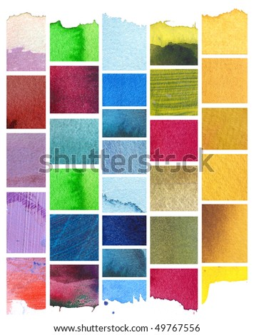 abstract watercolor background design mosaic - stock photo