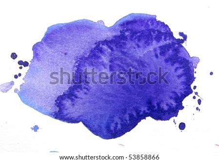 abstract watercolor background design shape - stock photo