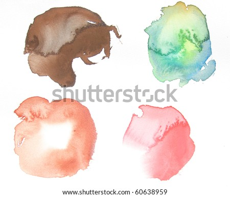 abstract watercolor background design shapes - stock photo