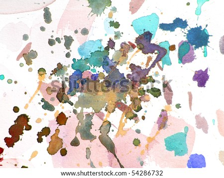 abstract watercolor background design splash - stock photo