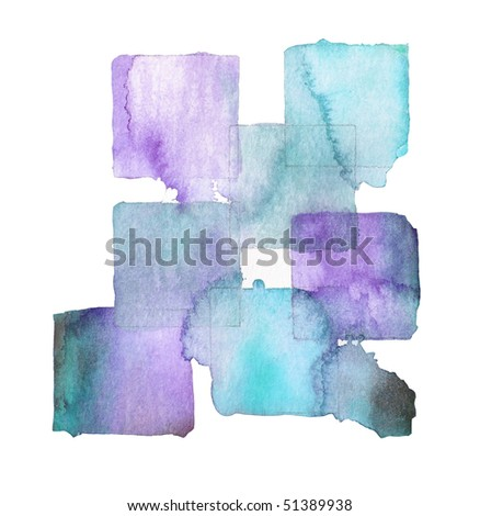 abstract watercolor background design squares