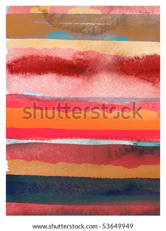 abstract watercolor background design stripes - stock photo