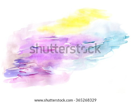 Abstract watercolor background for design - stock photo