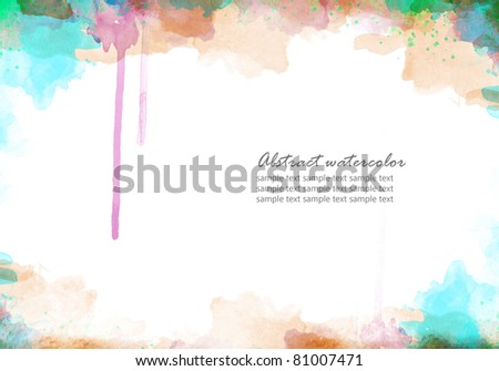 Abstract watercolor background for your design perfect background - stock photo