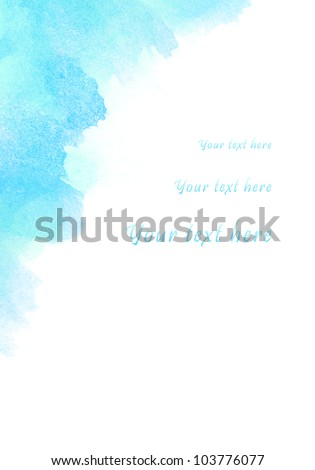 Abstract watercolor background, for your text here
