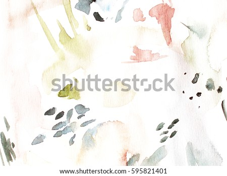 Abstract Watercolor Background Hand Drawn Wallpaper Cover