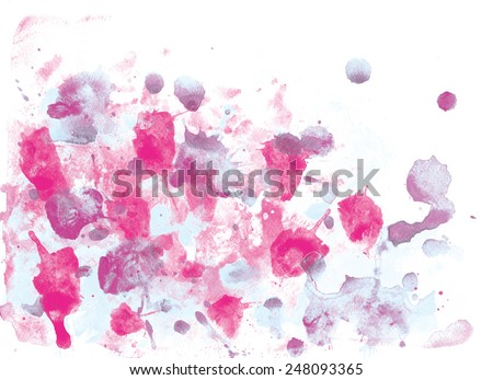 abstract watercolor  background. hand made drawing. impressionism style. suitable for various designs and scrapbooking
