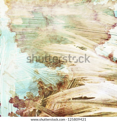 Abstract watercolor background made with brush strokes - stock photo